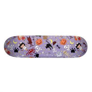 Halloween Costumes on Purple Skateboard Decks