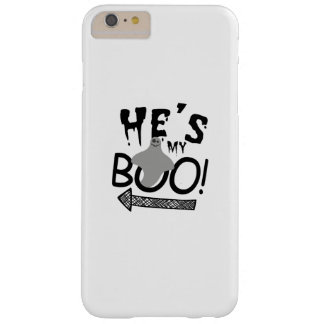 Halloween Couples Funny He's My Boo Ghost Barely There iPhone 6 Plus Case