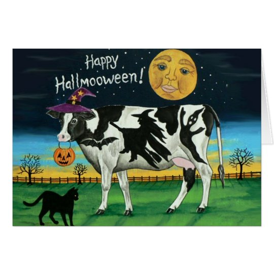 Halloween Cow Greeting Card