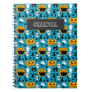 Halloween Creatures Illustration Spiral Notebook