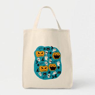 Halloween Creatures Illustration Tote Bag