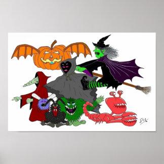 Halloween Creatures Poster