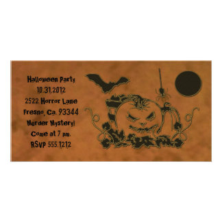 Halloween Creepers Picture Card
