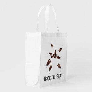 Halloween Creepy Cockroach Trick Or Treat Bag Reusable Grocery Bag