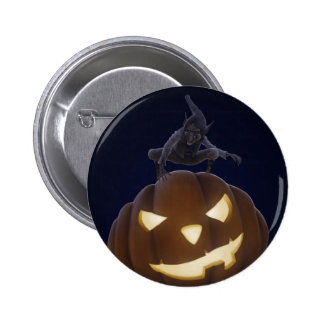Halloween creepy night buttons