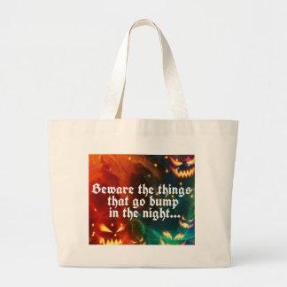 Halloween Creepy Things That Go Bump in the Night Large Tote Bag