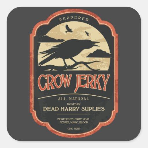 Halloween Crow Vintage Label Stickers