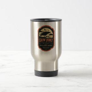 Halloween Crow Vintage Label Travel Mug