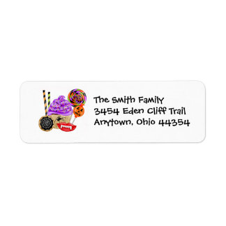 Halloween Cupcake and Sweets Return Address Labels