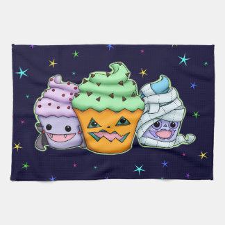 Halloween Cupcakes Tea Towel