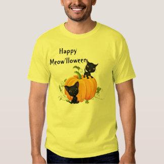 Halloween Cute Black Cats Pumpkin Shirt