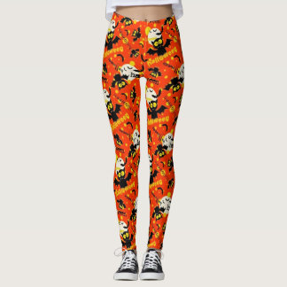 Halloween Cute Flying Bats Leggings