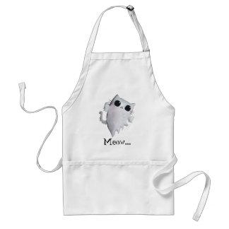 Halloween cute ghost cat standard apron