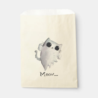 Halloween cute ghost cat favour bags