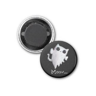 Halloween cute ghost cat 3 cm round magnet