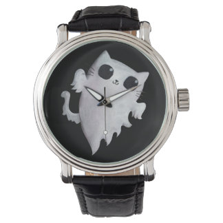 Halloween cute ghost cat watches