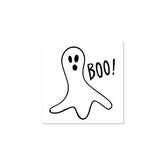 Halloween Cute Ghost Custom Rubber Stamp