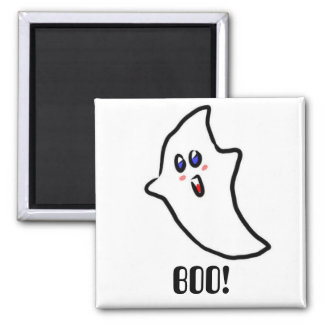 Halloween cute ghost square magnet