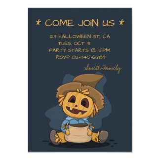 Halloween Cute Jack O' Lantern. Add Family Name. Card