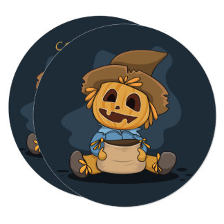 Halloween Cute Jack O' Lantern. Add Name. Card