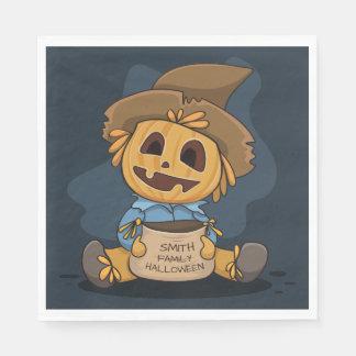 Halloween Cute Jack O' Lantern. Add Name. Disposable Napkins