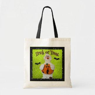 Halloween - Cute Mummy and Pumpkin Tote Bag