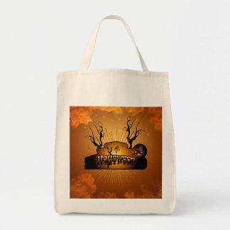 Halloween cute owl tote bag