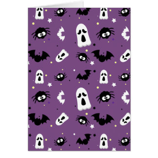 Halloween cute pattern card