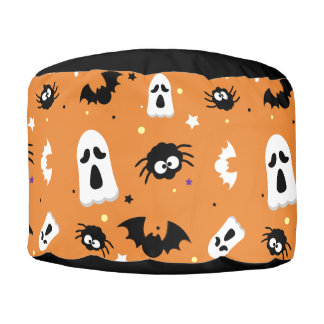 Halloween cute pattern pouf