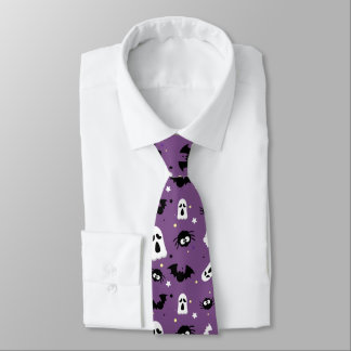Halloween cute pattern tie