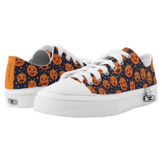 Halloween Cute Pumpkin Pattern Jack-O-Lantern Low Tops