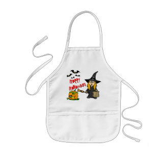 Halloween Cute WItch Kids Apron
