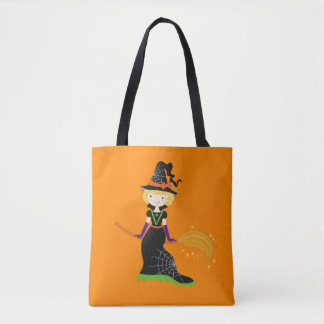 Halloween Cute Witch Trick or Treat Bag Tote Bag