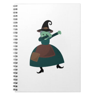 Halloween Dab Funny Dabbing Witch Notebook