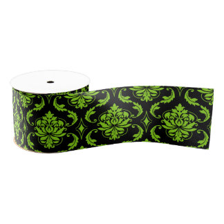 Halloween damask party grosgrain ribbon