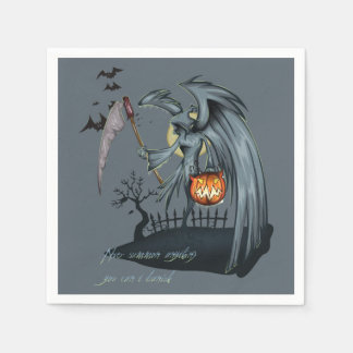 Halloween dead angel costume disposable napkins