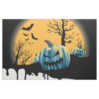 Halloween dead tree, moon,devil pumpkin, bats fabric