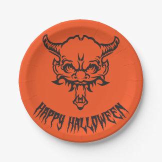 Halloween Demon plate 7 Inch Paper Plate