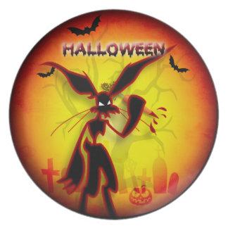 halloween design plates