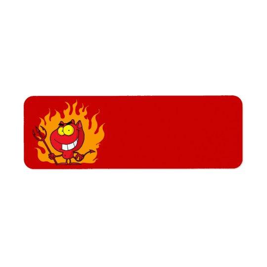 Halloween Devil Label Return Address Label