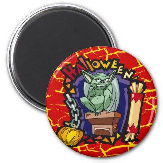 Halloween Devil 6 Cm Round Magnet