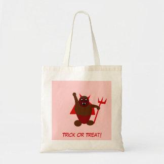 Halloween devil Trick or Treat Tote Bag