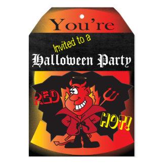Halloween Devilish Party 13 Cm X 18 Cm Invitation Card