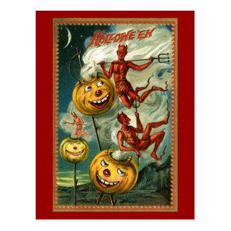 Halloween Devils & JOLs Postcard
