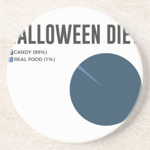Halloween Diet Sweets Treats and Candy Design Coaster