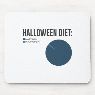 Halloween Diet Sweets Treats and Candy Design Mouse Pad