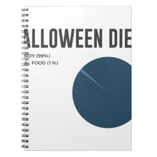 Halloween Diet Sweets Treats and Candy Design Notebook