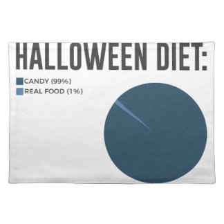 Halloween Diet Sweets Treats and Candy Design Placemat