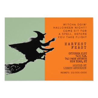 Halloween dinner party card