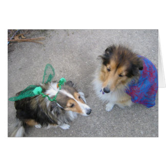 Halloween Dogs Greeting Card